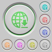 Download from the internet push buttons Stock Illustration