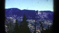 1967: beautiful view of mountains COLORADO Stock Footage