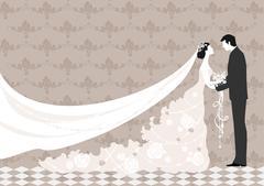 Wedding ceremony Stock Illustration