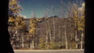 1967: drive through the country in the fall COLORADO Stock Footage
