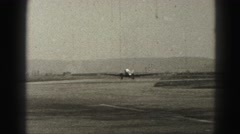 1946: plane taxiing on tarmac. HARRISBURG Stock Footage