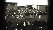1946: people are playing american football HARRISBURG Stock Footage