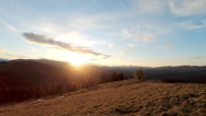 Sunset in the mountains. Stock Footage