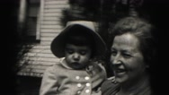 1946: mother with small child is seen HARRISBURG Stock Footage