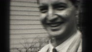 1946: group of people including women, men, and child HARRISBURG Stock Footage