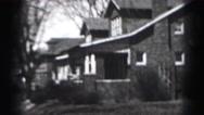 1946: old neighborhood corner HARRISBURG Stock Footage