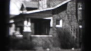 1946: street with beautiful houses and old cars HARRISBURG Stock Footage