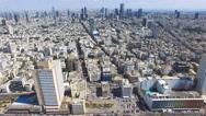 Tel Aviv skyline - Moving in from the mediterranean sea, Aerial footage Stock Footage