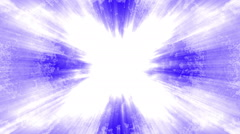 Blue and white light rays loop Stock Footage