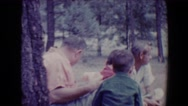 1967: picnic in forest area is seen TUCSON, ARIZONA Stock Footage