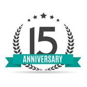 Template Logo 15 Years Anniversary Vector Illustration Stock Illustration