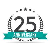 Template Logo 25 Years Anniversary Vector Illustration Stock Illustration