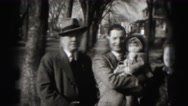 1946: family is seen going on trip with small child HARRISBURG Stock Footage