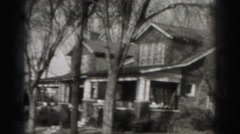 1946: neighborhood with beautiful houses HARRISBURG Stock Footage