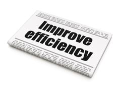 Business concept: newspaper headline Improve Efficiency Stock Illustration
