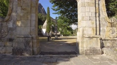 Shrine of Our Lady of Peneda in Peneda Geres mountain portugal steady shot 4k Stock Footage