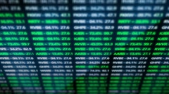 Vertical Stock Exchange Futuristic Tickers Stock Footage