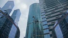 Glass towers business centers. Stock Footage