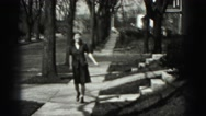 1946: almost drunk with excitement attractive women walking down  Stock Footage