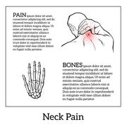 Pain in the neck of a man Stock Illustration