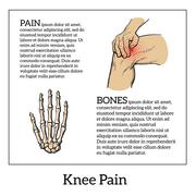Color illustration of knee pain. Hands holding leg Piirros