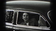 1946: woman is smiling and talking from the car HARRISBURG Stock Footage
