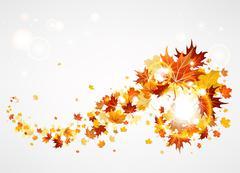 Beautiful swirl of maple leave Stock Illustration