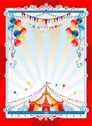 Bright circus frame Stock Illustration