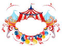 Circus tent frame Stock Illustration