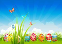 Easter  festive background Stock Illustration