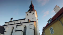 St Mary's Cathedral in Toompea, Tallinn Stock Footage