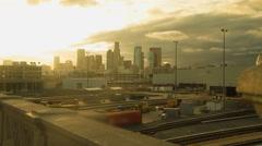 4K Los Angeles Sunrise Skyline Timelapse Stock Footage