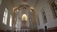Beautiful interior of a catholic church in Macau Stock Footage