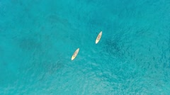 Stand Up Paddlers off of Maui, Hawaii Stock Footage