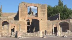 Hadrian's Villa, Tivoli, Italy, view of Edificio con Esedre Stock Footage