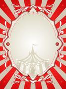 Vintage circus background Stock Illustration