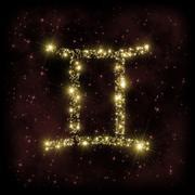 Gemini Zodiak Sign Stock Illustration