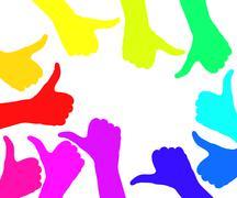 OK gesture isolated white Stock Illustration