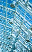 Glass roof ventilation tubing Stock Photos