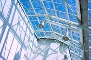 Glassy roof ventiduct Stock Photos