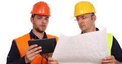 Supervisor Engineer Men Working Inspect Note Dates Checking Documents Activity Stock Footage