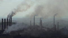 Contamination of the Environment With Harmful Emissions of Industrial Stock Footage