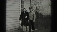 1946: couple is seen walking happily HARRISBURG Stock Footage