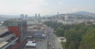 SARAJEVO - SEPTEMBER 2016:Aerial Shot of  City center of Sarajevo Stock Footage