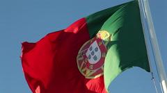 Portugal Flag Stock Footage