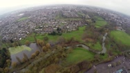 Aerial view of Colchester town Stock Footage