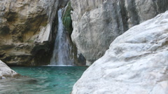 Cascade, with the name of the Greek Y Stock Footage