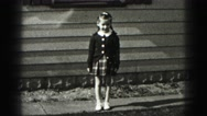 1946: girl is seen walking inside house HARRISBURG Stock Footage