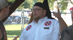 Ku Klux Klan rally in Indiana  Stock Footage