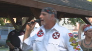 Ku Klux Klan scolds Black Lives Matter counter protesters  Stock Footage